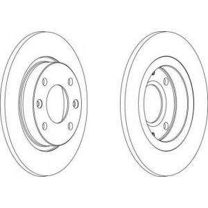FERODO DDF059 Тормозной диск Ferodo