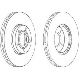 FERODO DDF1014 Тормозной диск Ferodo