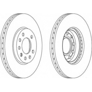 FERODO DDF1042 Тормозной диск Ferodo