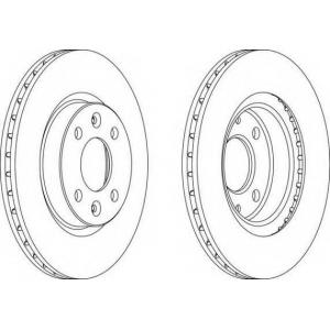 FERODO DDF1096C-1 Тормозной диск Дайхатсу Аплоус