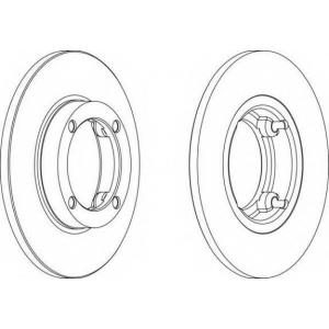 FERODO DDF1098 Тормозной диск Дэу Тико
