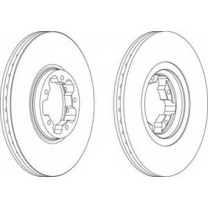 FERODO DDF1113 Тормозной диск Ferodo