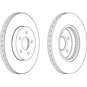 FERODO DDF1125 Тормозной диск Ferodo