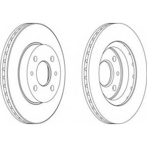 FERODO DDF1142 Тормозной диск Ferodo Lada 2110-2112 R13