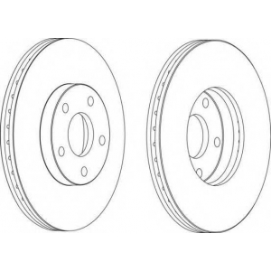 FERODO DDF1172 Тормозной диск Ferodo