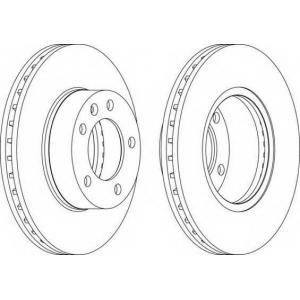 FERODO DDF1217 Тормозной диск Ferodo