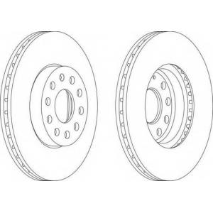 FERODO DDF1218 Тормозной диск Ferodo