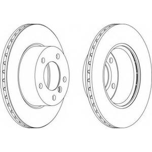 FERODO DDF1228 Тормозной диск