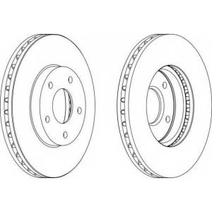 FERODO DDF1249 Тормозной диск