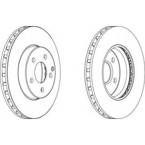 FERODO DDF1252 Тормозной диск
