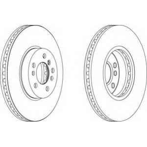 FERODO DDF1256 Тормозной диск