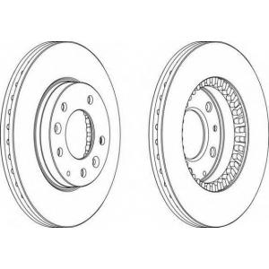 FERODO DDF1278 Тормозной диск