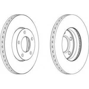 FERODO DDF1311 Тормозной диск