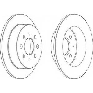 FERODO DDF1358 Тормозной диск Акура