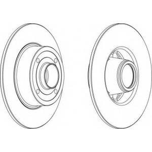 FERODO DDF1369 Тормозной диск Ferodo