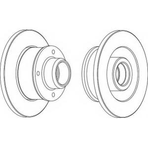 FERODO DDF1371 Тормозной диск