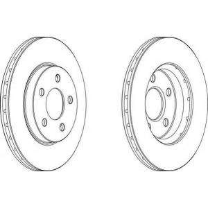 FERODO DDF1376 Тормозной диск Додж Неон