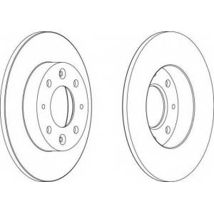 FERODO DDF1395 Тормозной диск