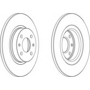 FERODO DDF141 Тормозной диск Ferodo