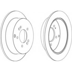 FERODO DDF1493 Тормозной диск Ferodo