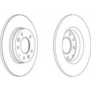FERODO DDF1500 Тормозной диск Ferodo