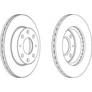 FERODO DDF1521 Тормозной диск Дача Соленза