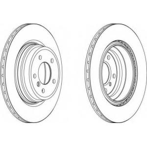 FERODO DDF1550 Гальмівний диск