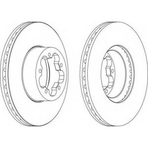FERODO DDF1555 Тормозной диск