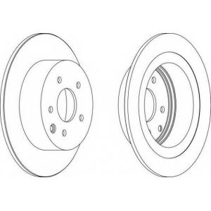 FERODO DDF1590 Тормозной диск