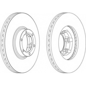 FERODO DDF160 Тормозной диск Рено Трафик