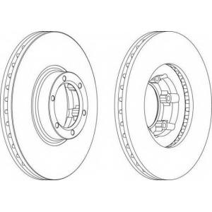 FERODO DDF1601 Тормозной диск Ferodo