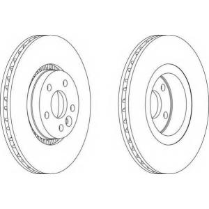 FERODO DDF1607 Гальмівний диск