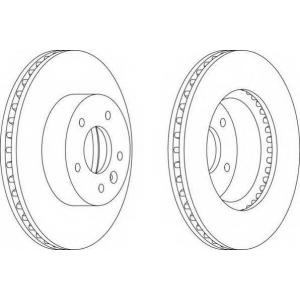 FERODO DDF1625 Тормозной диск Ferodo
