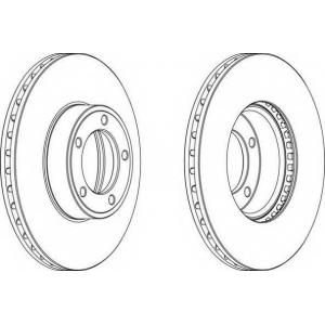 FERODO DDF164-1 Тормозной диск Ягуар