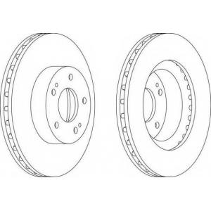 FERODO DDF1659 Тормозной диск Ferodo