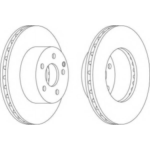FERODO DDF1668 Тормозной диск Ferodo