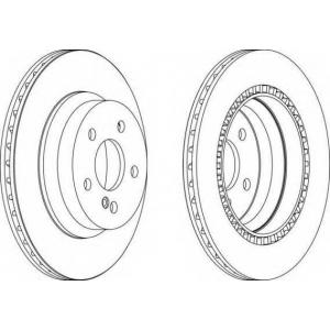 FERODO DDF1672 Диск гальмівний