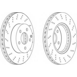 FERODO DDF1693 Тормозной диск Мерседес Слс Амг
