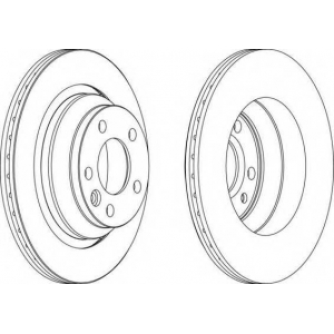 FERODO DDF1698 Тормозной диск Ferodo