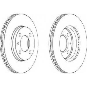 FERODO DDF175 Тормозной диск Ferodo