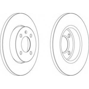 Тормозной диск ddf205 ferodo - VW PASSAT (3A2, 35I) седан 1.6