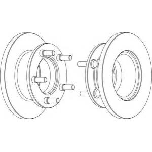FERODO DDF225 Тормозной диск Мерседес 100