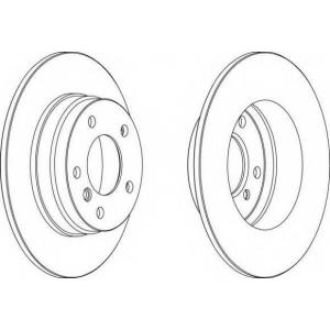 FERODO DDF249 Тормозной диск Ferodo