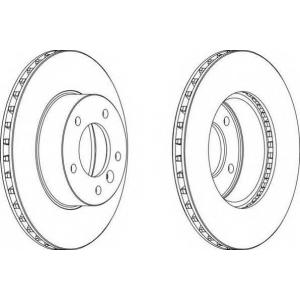 FERODO DDF295 Тормозной диск Ягуар