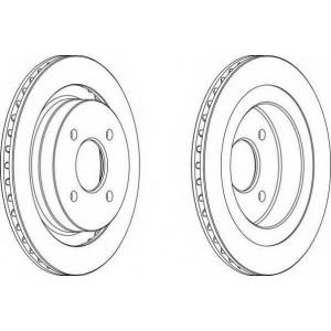 FERODO DDF338 Тормозной диск Крайслер Le