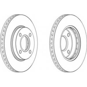 FERODO DDF364 Тормозной диск Ferodo