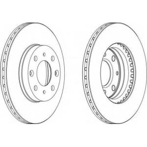 FERODO DDF377 Тормозной диск Акура