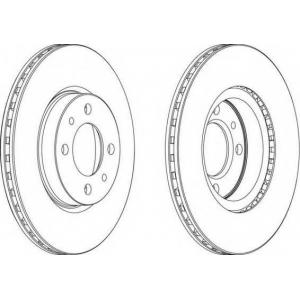 FERODO DDF521 Тормозной диск Ferodo