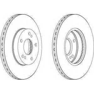 FERODO DDF600 Тормозной диск