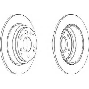 FERODO DDF672 Тормозной диск Хонда